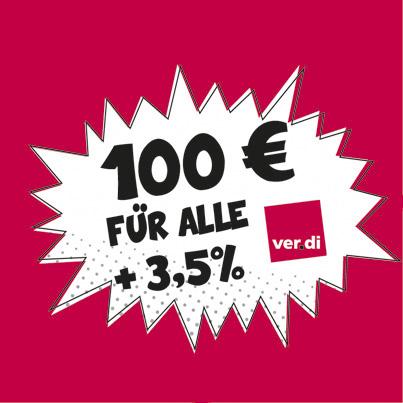 100 Euro mehr!