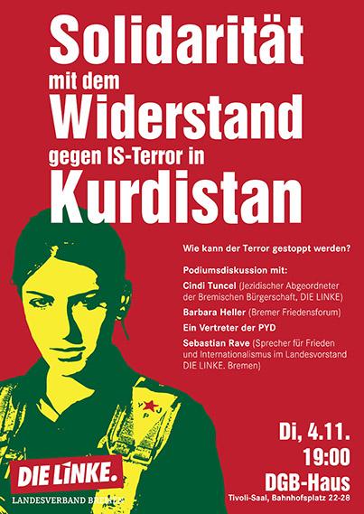 Solidarität mit dem Widerstand gegen IS-Terror in Kurdistan