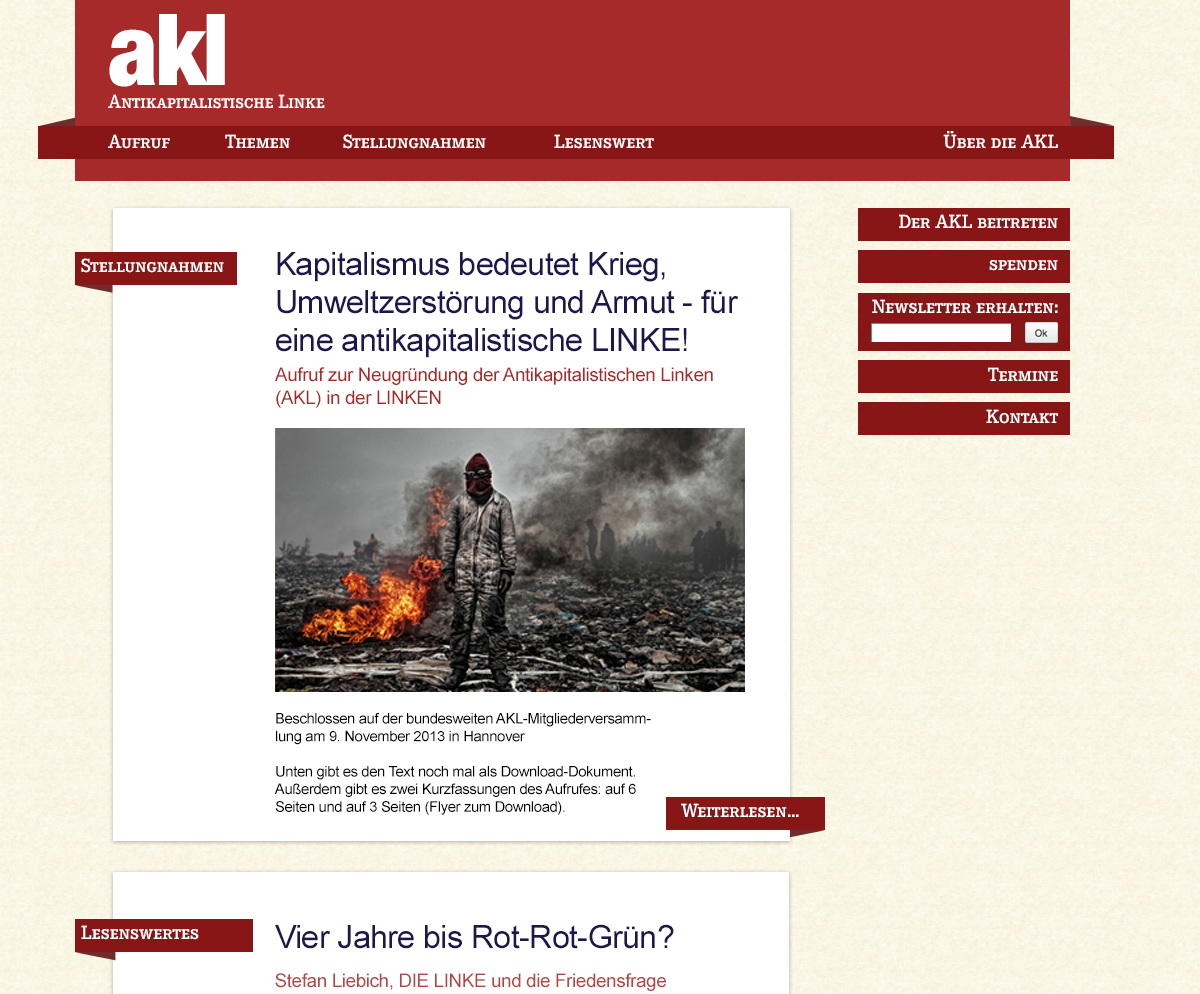 Website der AKL