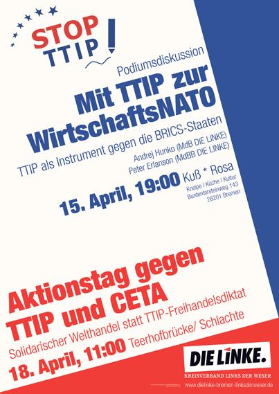 Plakat: Mit TTIP zur WirtschaftsNATO