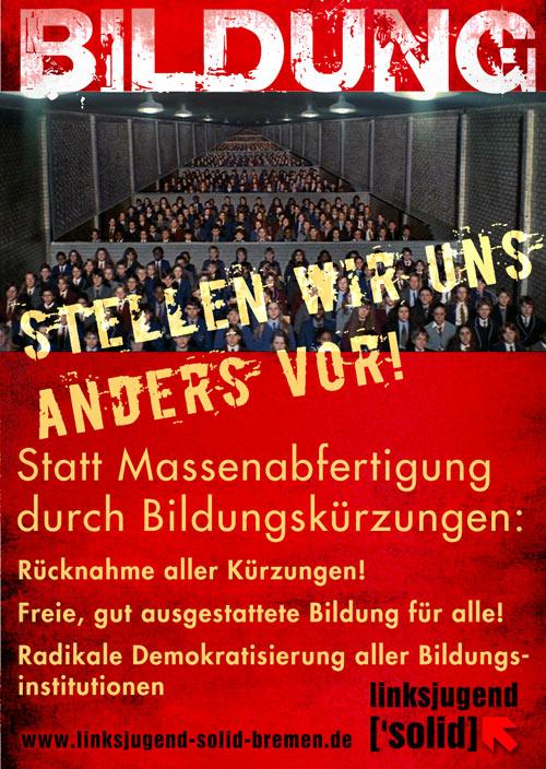 Aufkleber zum Bildungsstreik 2012 in Bremen