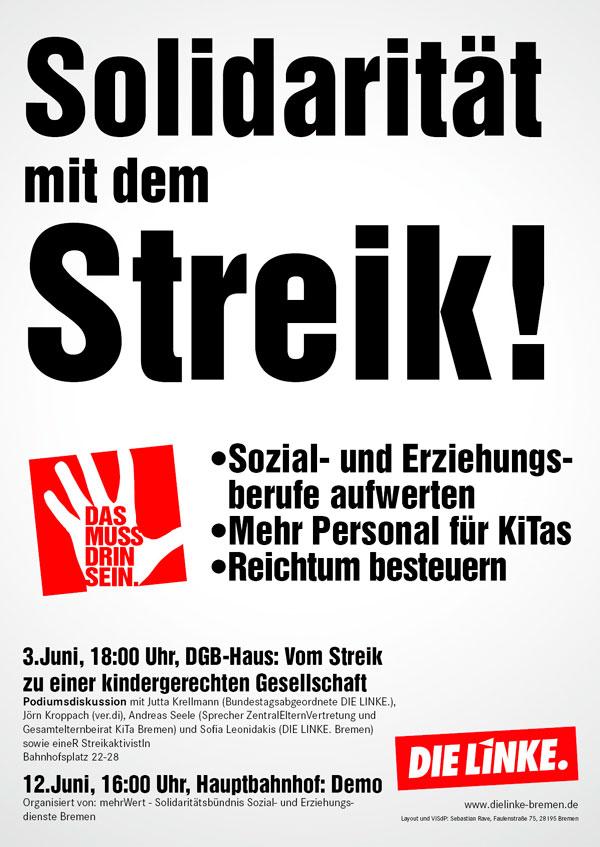 Solidarität mit dem Streik!