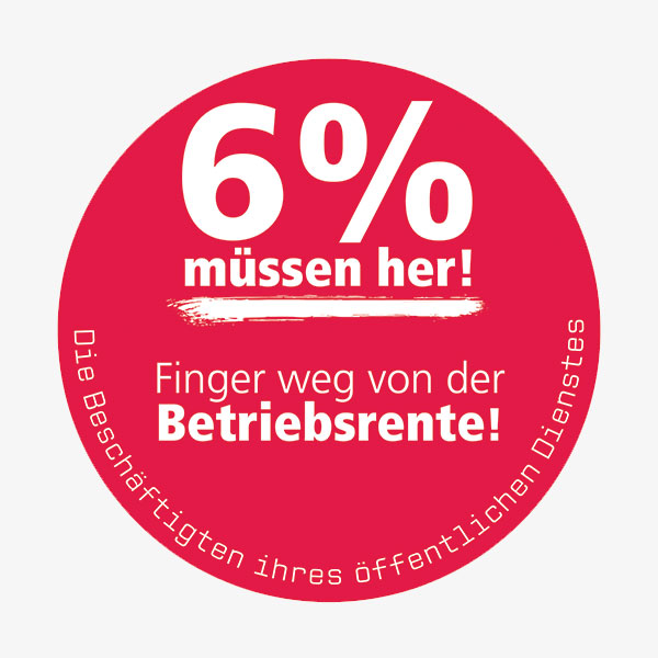Tarifrunde 2016: 6% müssen her!