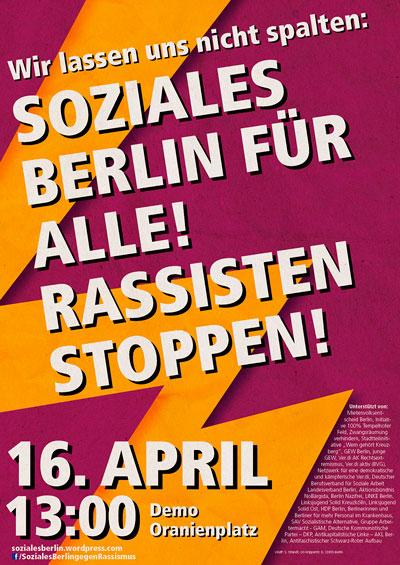 Soziales Berlin gegen Rassismus