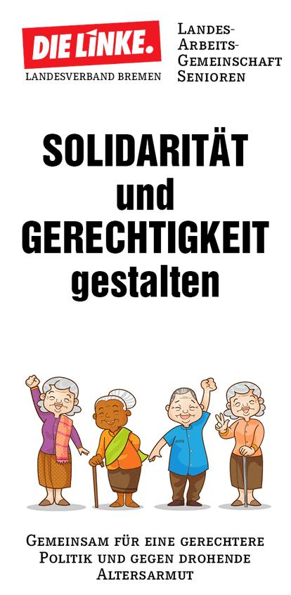 Faltblatt Senioren-AG der LINKEN Bremen